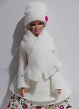 Hračky - SET čiapka so šálom pre Barbie - 8618604_