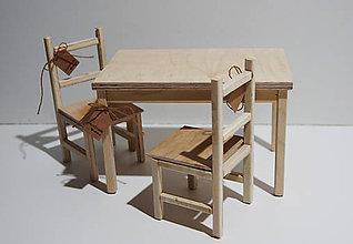 Hračky - Stôl+stoličky pre barbie - 8619007_