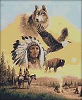 Návody a literatúra - M114 Indiánske Ikony - predloha na vyšívanie - 8617075_