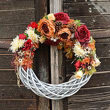 Dekorácie - Veľký jesenný veniec - 8615783_