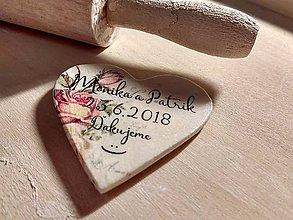 Darčeky pre svadobčanov - magnetky pre Moniku a Patrika - 8618385_