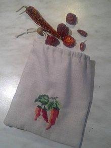 Úžitkový textil - Vrecko na chili - 8617203_