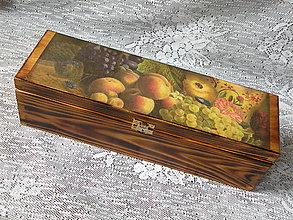 Iné - Krabice dárková vintage-1láhev - 8617634_