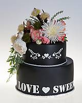 dekoračný box / svadobná torta BlackLove