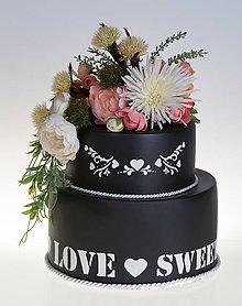 Krabičky - dekoračný box / svadobná torta BlackLove - 8618720_
