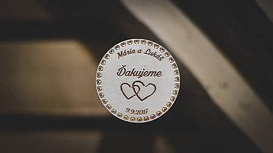 Darčeky pre svadobčanov - Svadobné magnetky - 8618336_