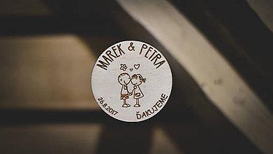 Darčeky pre svadobčanov - Svadobné magnetky - 8618364_