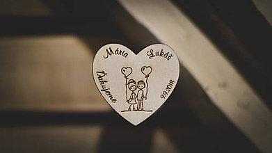 Darčeky pre svadobčanov - Svadobné magnetky - 8618459_
