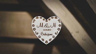Darčeky pre svadobčanov - Svadobné magnetky - 8618476_