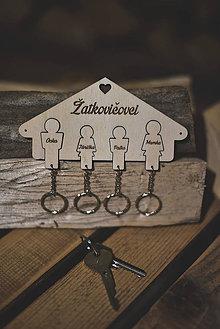 Kľúčenky - Rodinné kľúčenky pre 4 osoby - 8618513_