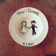 Darčeky pre svadobčanov - Svadobný tanier - 8617004_