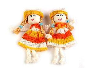 Iný materiál - Textilná bábika 8cm - oranžovožltá - 8617079_