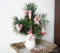 Dekorácie - Vianočné ozdôbky červené - 8615861_