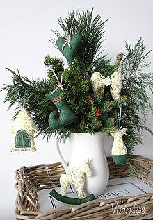 Dekorácie - Vianočné ozdôbky zelené - 8616054_