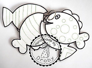 Hračky - rybky grafomotorické - 8618682_