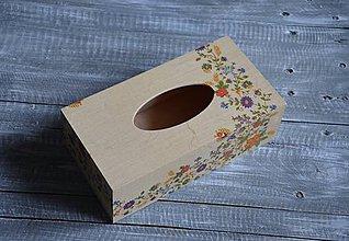 """Krabičky - box na vreckovky """"Ľudový 4"""" - 8617311_"""
