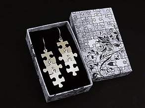 Náušnice - Puzzle náušnice - 8615442_