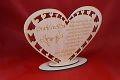 Darčeky pre svadobčanov - Poďakovanie Rodičom srdce 37 - 8616331_