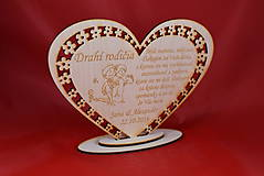 Darčeky pre svadobčanov - Poďakovanie Rodičom srdce 38 - 8616336_