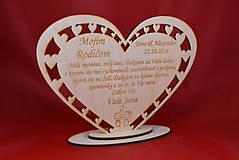 Darčeky pre svadobčanov - Poďakovanie Rodičom srdce 39 - 8616337_