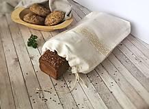 - Vrecko na chlieb z ľanového plátna - 8616420_