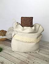 Ľanové vrecúško na chlieb s tvarovaným dnom