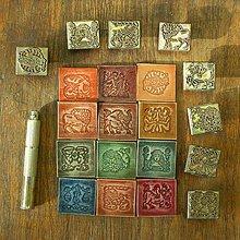 Materiál ručne robený - Zodiak - kožené nášivky - 8616793_