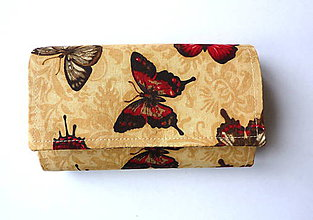 Peňaženky - Peňaženka - Motýľ v piesku - 17 - 8618111_