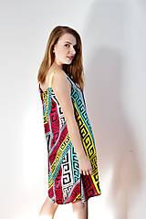 Šaty - Vzorované polyesterovo-hodvábne šaty ľahké ako vánok - 8618082_