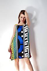 Šaty - Vzorované polyesterovo-hodvábne šaty ľahké ako vánok - 8618083_