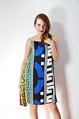 Šaty - Vzorované polyesterovo-hodvábne šaty ľahké ako vánok - 8618084_