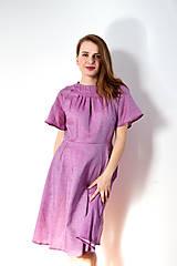 Šaty - Fialové šaty s raglánovými rukávmi - 8618241_
