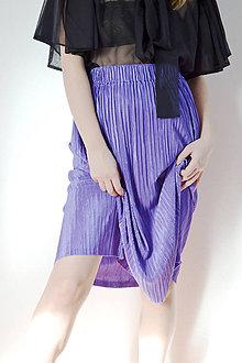 Sukne - Nezvyčajne fialová(modrá) plisé sukňa - 8618122_
