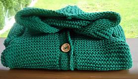 Detské oblečenie - ...tak trošku zelenej, svetrík - 8619680_