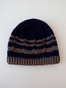 Doplnky - Sivo-modrá pánska čiapka - 8621667_