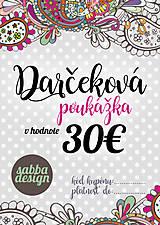Darčekové poukážky - Darčeková poukážka 30€ - 8621940_