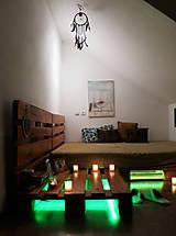 Nábytok - Paletová manželská posteľ - 8622350_