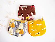Peňaženky - Peňaženka - jelene na hnedej - 8619845_