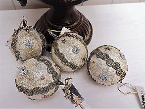 Dekorácie - Sada -vianočné gule (Bronz) - 8622041_
