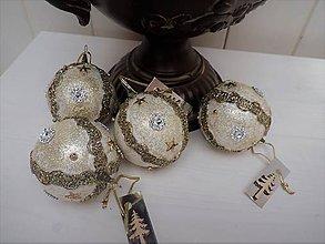 Dekorácie - Sada -vianočné gule (Bronz) - 8622044_