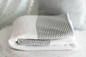"""Textil - Zimná Deka do Kočíka a Postieľky, ,,GreyEye"""", OEKO-TEX® - SivoBiela - 8621554_"""
