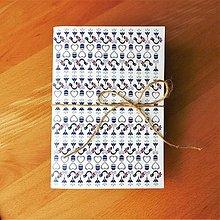 Papiernictvo - Notes folklórny modrý - 8620961_