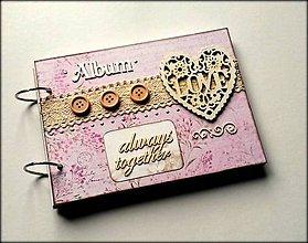 Papiernictvo - Romantický svadobný album A5 - 8619574_