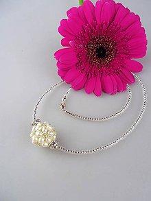 Náhrdelníky - Luxusný náhrdelník pravé perly, striebro - 8620677_