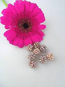 Minerály - splietaná pravá perla korálik - cca 11-14mm - 8620862_