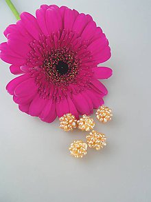 Minerály - Marhuľové perly korálky splietané 11-14mm - 8621572_