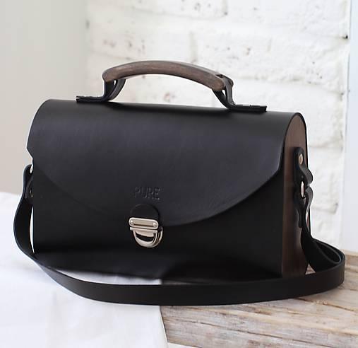Kabelky - Kabelka na  rameno SATCHEL BAG BLACK - 8619848_