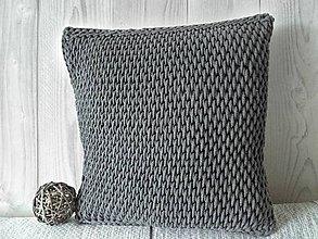 Úžitkový textil - Vankúš Nordic Day tmavošedý - 8621273_