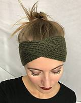 Čiapky - Čelenka khaki - turban - 8623150_