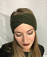 Čiapky - Čelenka khaki - turban - 8623151_